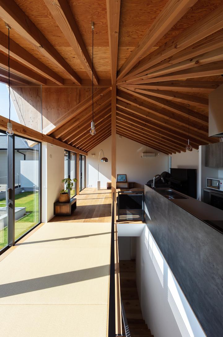 勾配天井 キッチンハウス 畳